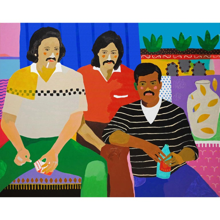 'In The Club' Figurative Portrait Painting by Alan Fears Pop Art
