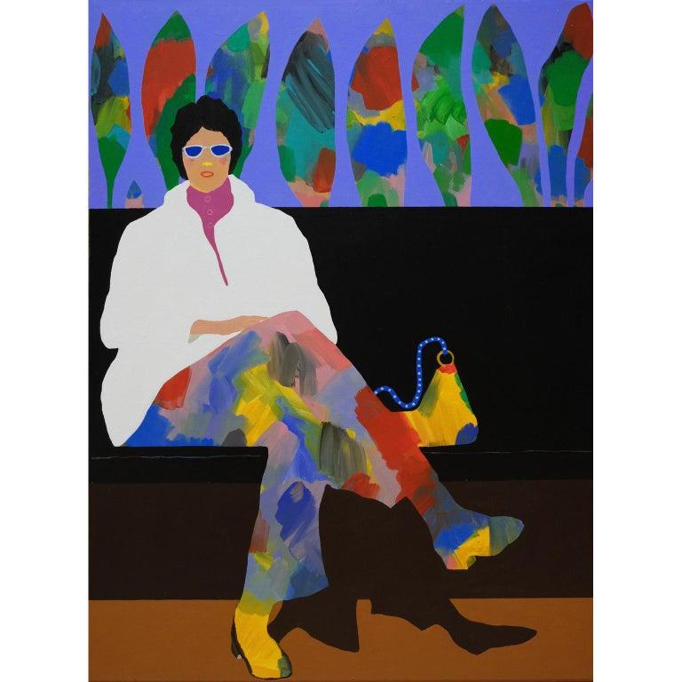 Modern 'Fancy Pants' Figurative Portrait Painting by Alan Fears Pop Art For Sale