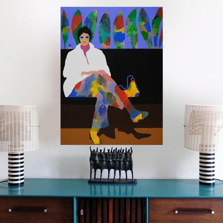 English 'Fancy Pants' Figurative Portrait Painting by Alan Fears Pop Art For Sale