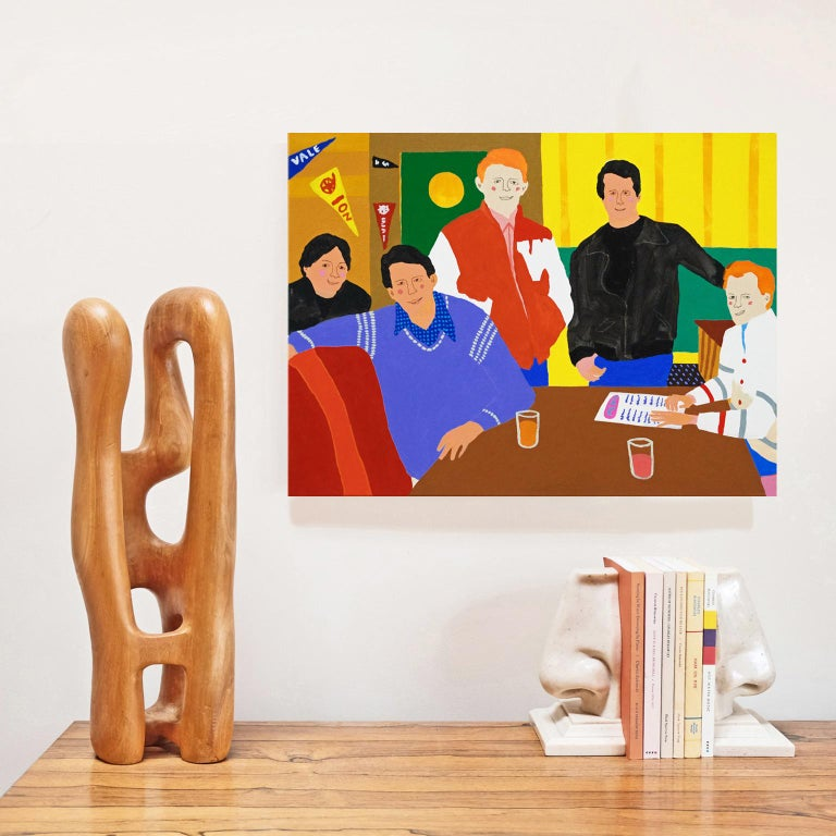 British 'Happy Days' Portrait Painting by Alan Fears Pop Art For Sale