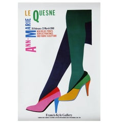 1980s Le Quesne Art Exhibition Poster Pop Art Heels