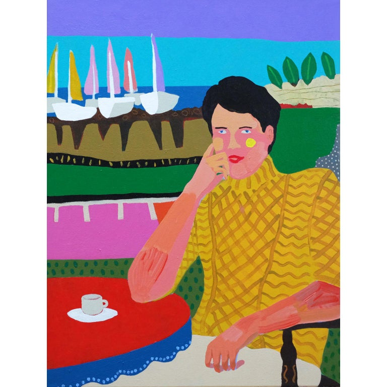 Modern 'Smooth Sailing' Portrait Painting by Alan Fears Pop Art For Sale