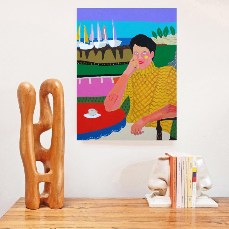British 'Smooth Sailing' Portrait Painting by Alan Fears Pop Art For Sale