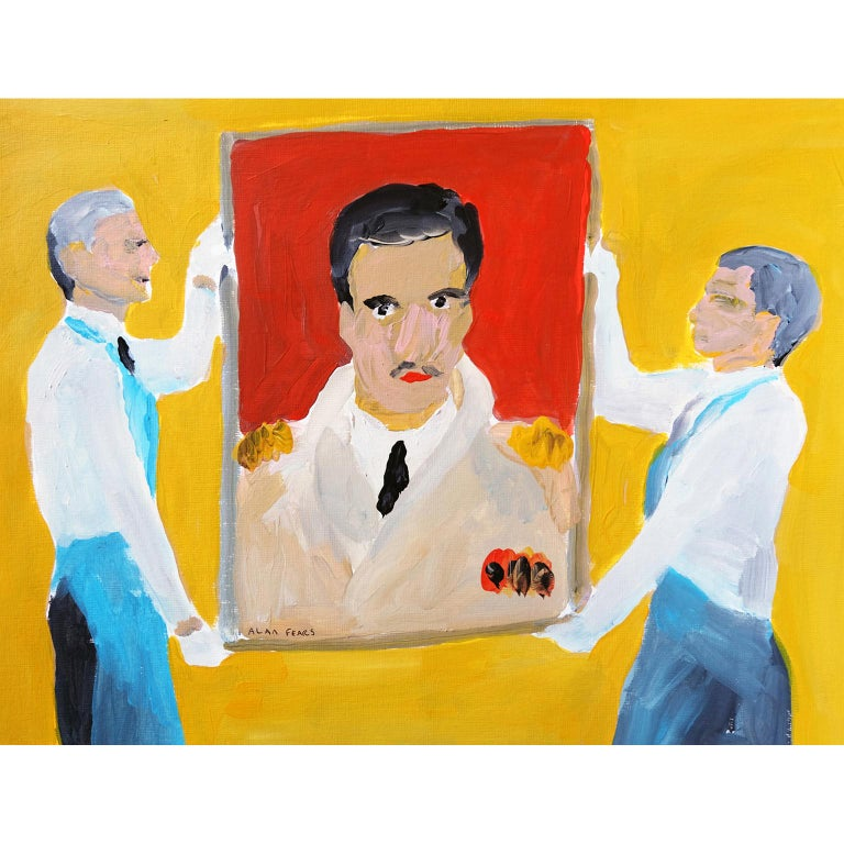 Modern 'The Masterpiece' Painting by Alan Fears Acrylic on Paper For Sale