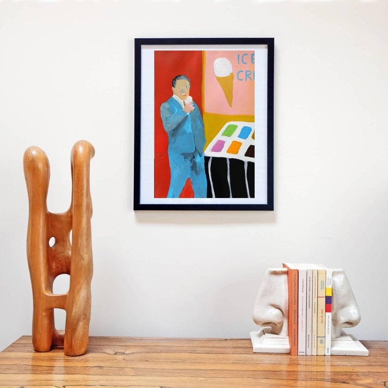 Acrylic on paper by Alan Fears, 2017. 