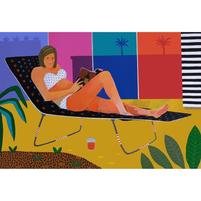 Modern 'Hot Gossip' Portrait Painting by Alan Fears Pop Art Figurative For Sale