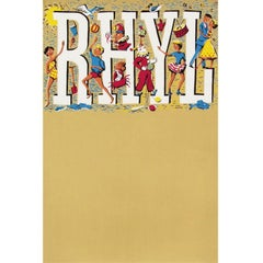1960s British Wales Rhyl Travel Poster People Design