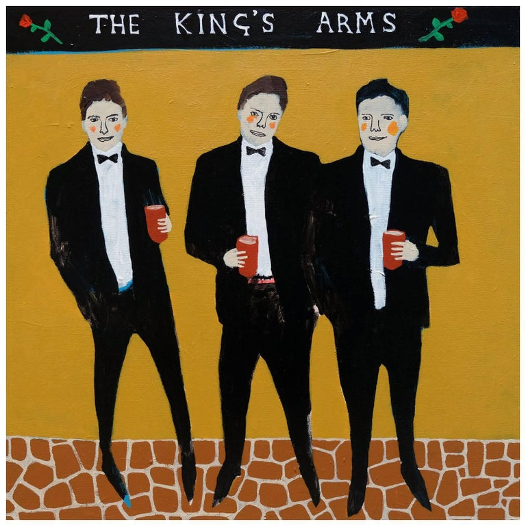 'Defenders of the Realm' Portrait Painting by Alan Fears Folk Art Pop Art