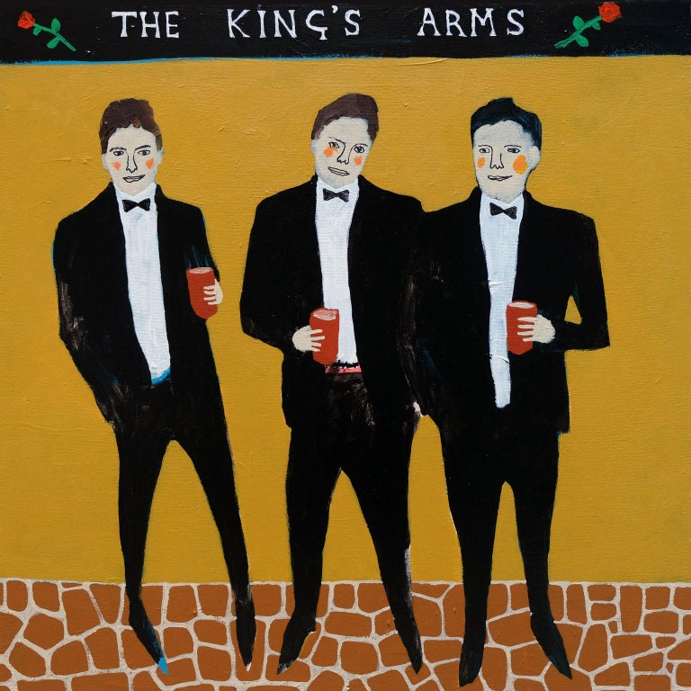 Modern 'Defenders of the Realm' Portrait Painting by Alan Fears Folk Art Pop Art For Sale