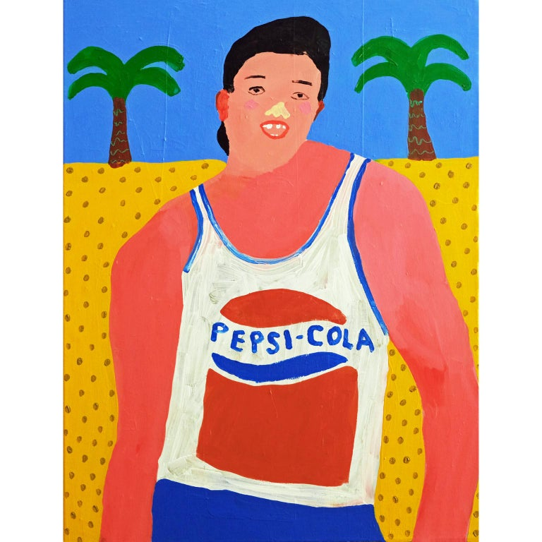 Modern 'Same Great Taste' Portrait Painting by Alan Fears Pop Art Pepsi For Sale