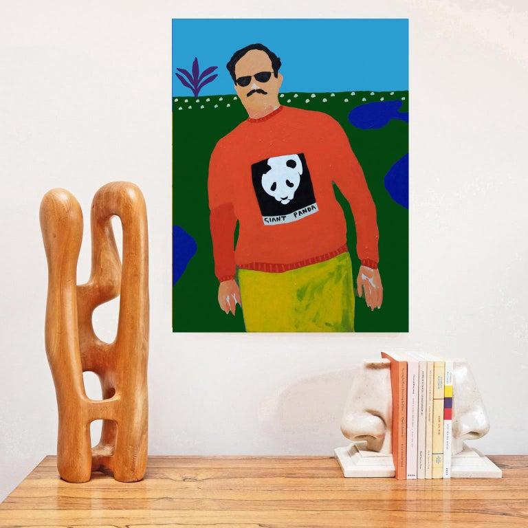 British 'Endangered Species' Portrait Painting by Alan Fears Pop Art Panda For Sale