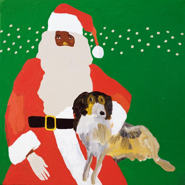 'A Secret Santa' Figurative Painting by Alan Fears Pop Art For Sale