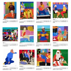 Alan Fears 2019 A3 Wall Calendar Figurative Painting Pop Art