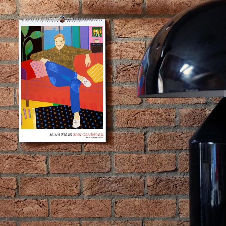 Modern Alan Fears 2019 A3 Wall Calendar Figurative Painting Pop Art For Sale