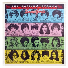 "1970s the Rolling Stones Banned ""Some Girls"" Poster Rare Pop Art"