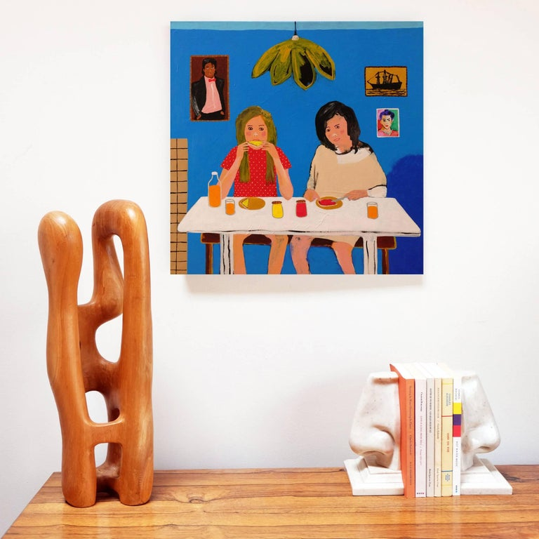 Acrylic on canvas by Alan Fears, 2017.  Alan Fears (b. 1974) is an emerging British artist who was shortlisted for the John Moores Painting Prize 2018.  'A naive artist, a graphic artist, a pop artist I am a slice of each. My style is simple and
