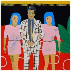 'Red Carpet Party' Portrait Painting by Alan Fears Pop Art