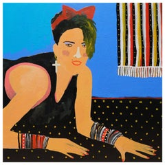 'Material Girl' Portrait Painting by Alan Fears Madonna, 1980s
