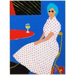 'The Regular' Porträtgemälde von Alan Fears Pop Art Lady