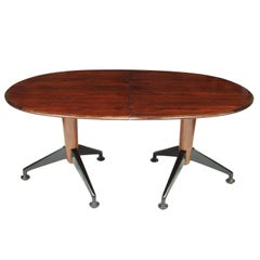 1950s Rosewood Extendable Oval Dining Table by A J Milne for Heals London