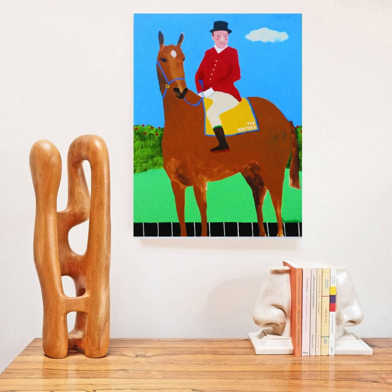 'Leader of the Pack' Portrait Painting by Alan Fears Pop Art Horse 2