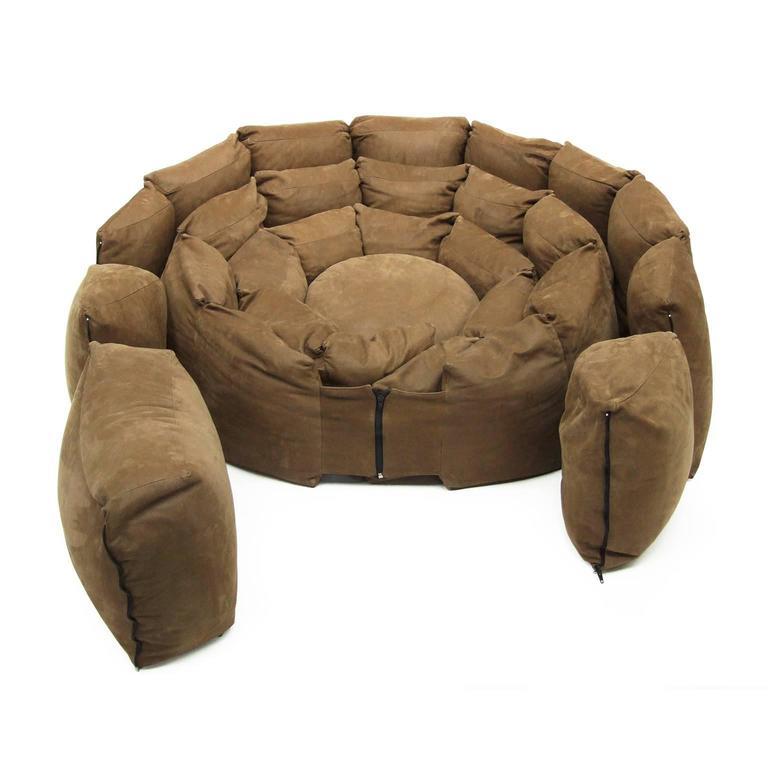 Italian Micama Leather Adjustable Sofa Daybed Modular Like Desede 2