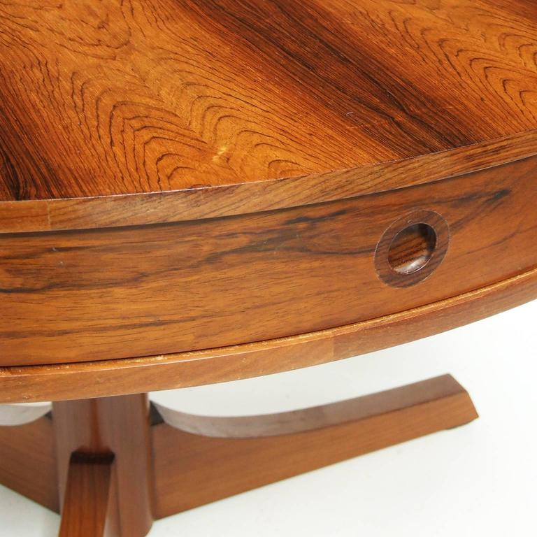 Mid-Century Modern 1950s Rosewood Bridgeford Drum Table by Robert Heritage for Archie Shine For Sale