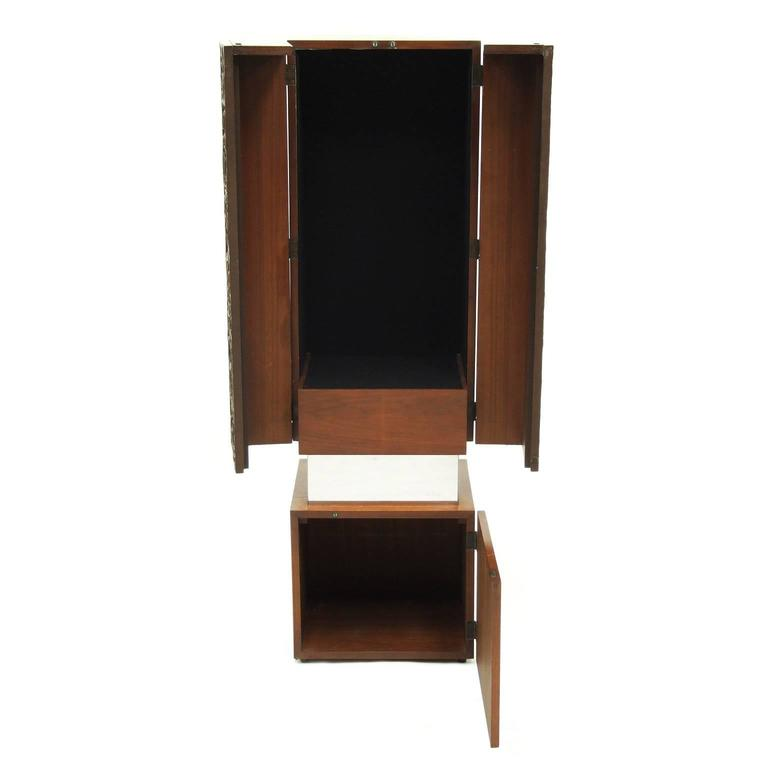 1970s decorative cabinet designed and manufactured in the USA.