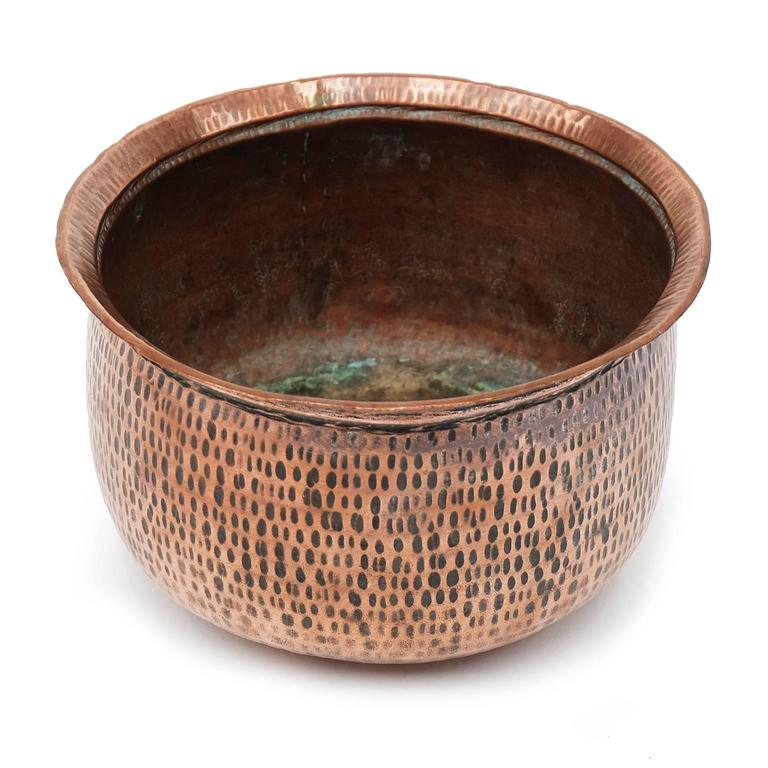 1950s copper planter designed and manufactured in the UK.