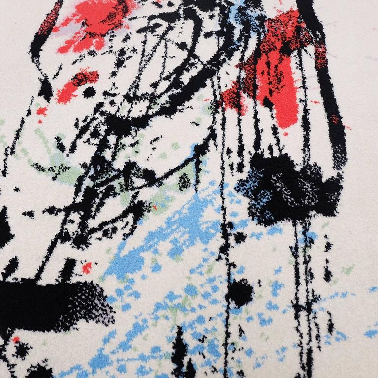 Ege Art Line Rug: 1980s Axminster Ege Abstract Art Rug By Robert Jacobsen