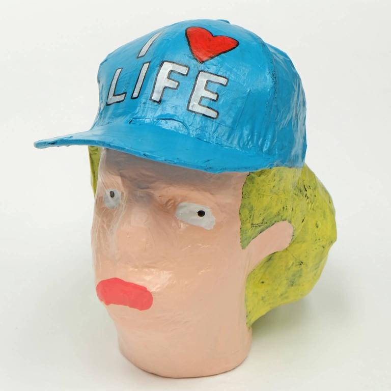 Modern 'Followers' Sculptures by Alan Fears Paper Mache Art Heads For Sale