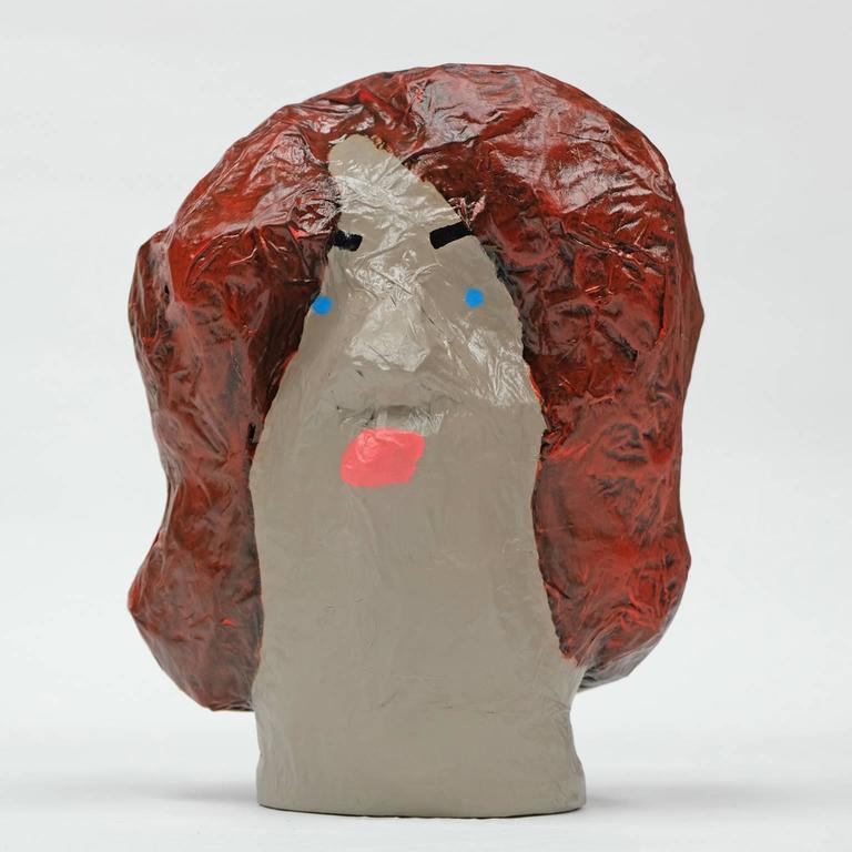Followers Sculptures By Alan Fears Paper Mache Art Heads