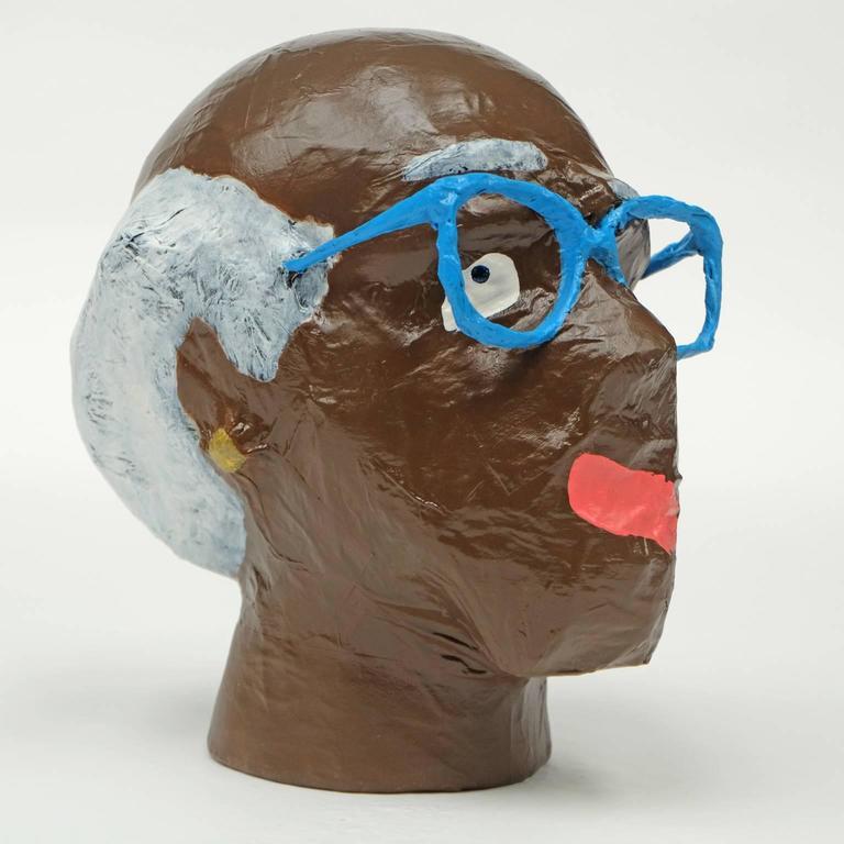 'Followers' Sculptures by Alan Fears Paper Mache Art Heads 4