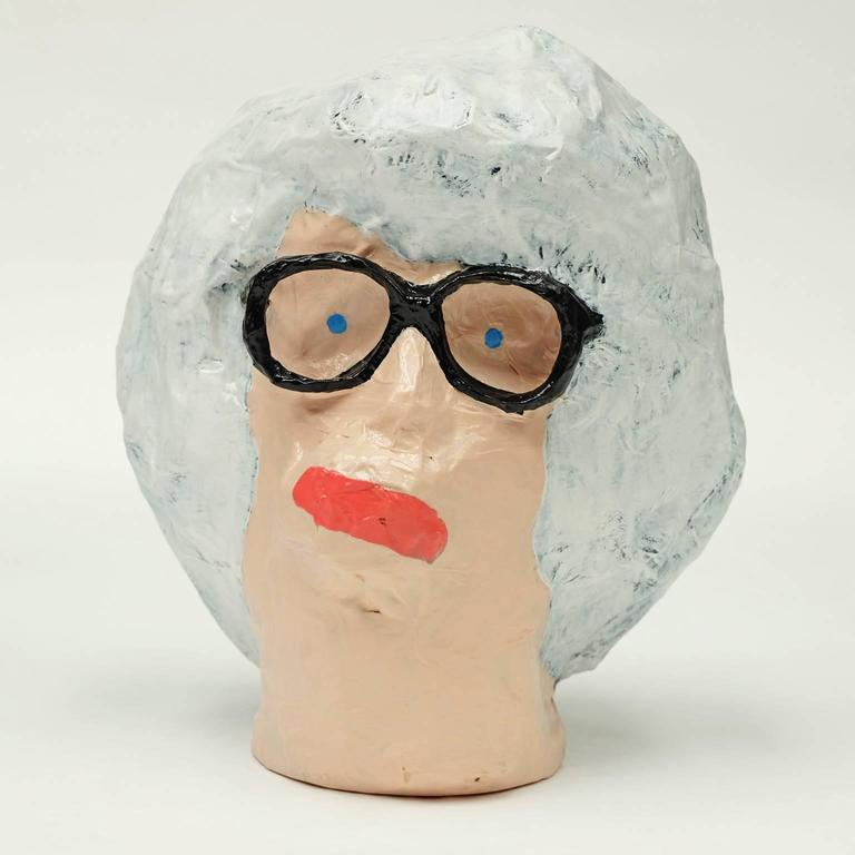 'Followers' Sculptures by Alan Fears Paper Mache Art Heads In Excellent Condition For Sale In Nottingham, Nottinghamshire
