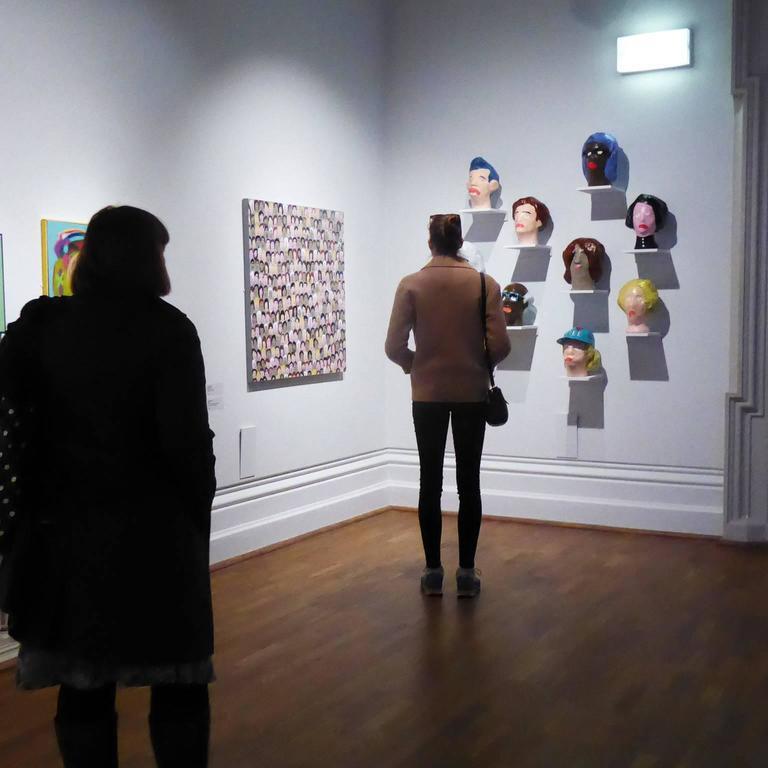 'Followers' Sculptures by Alan Fears Paper Mache Art Heads 10