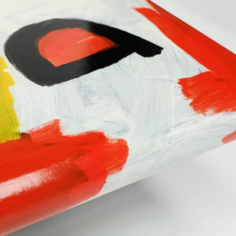 Acrylic Studio Coffee Table a Bespoke Piece of Art Furniture Tribal Design For Sale