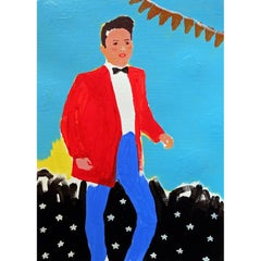 'The Virgin Shuffle' Portrait Painting by Alan Fears Acrylic on Paper Dancing