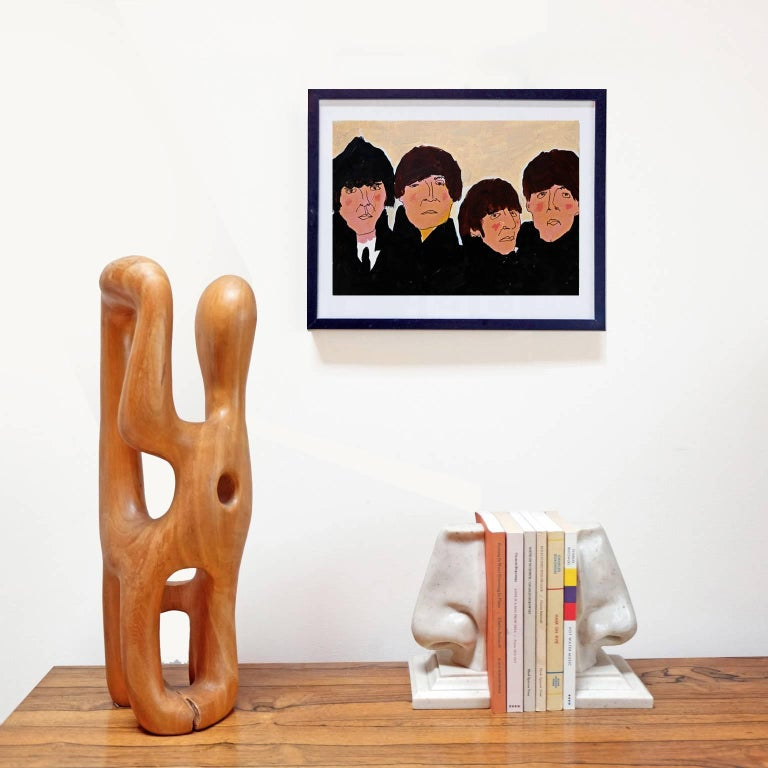'Beatles for Sale' Portrait Painting by Alan Fears Acrylic on Paper Album Cover 2