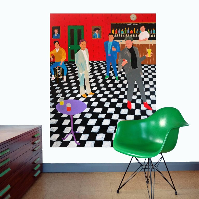 'Room to Manoeuvre' Figurative Painting by Alan Fears Pop Art 2