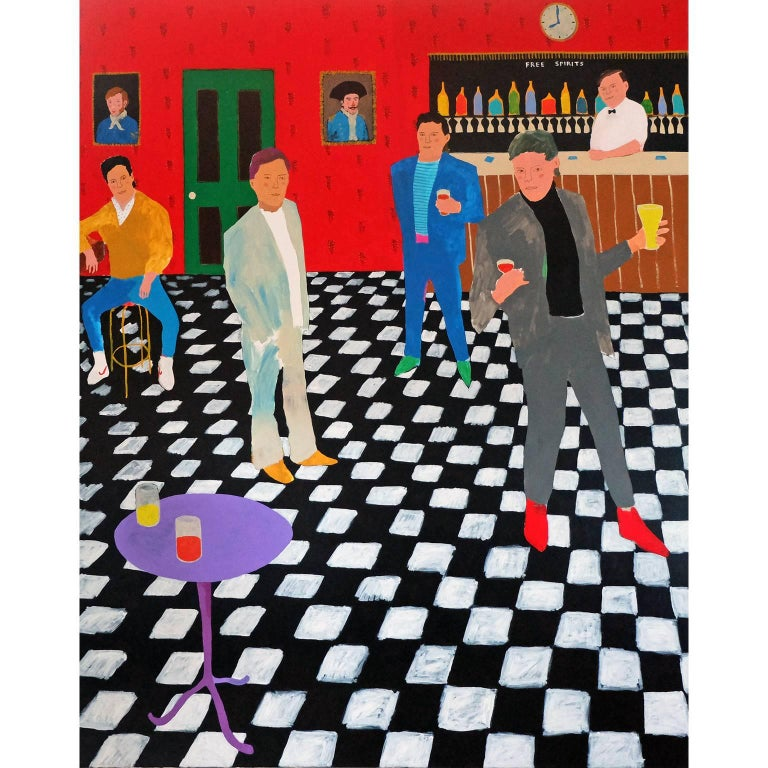 'Room to Manoeuvre' Figurative Painting by Alan Fears Pop Art