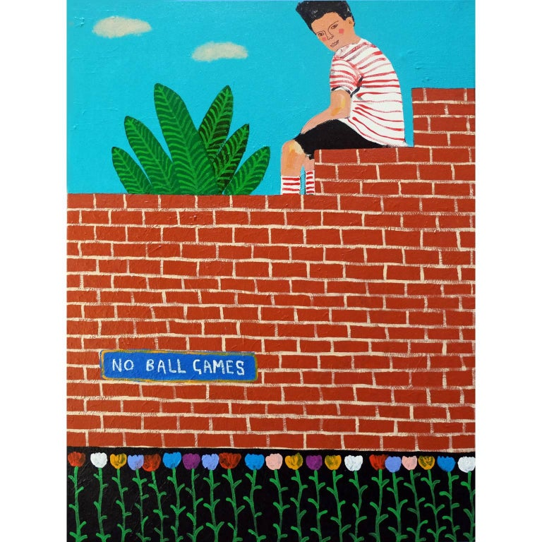 'Local Tomboy' Portrait Painting by Alan Fears Pop Art For Sale
