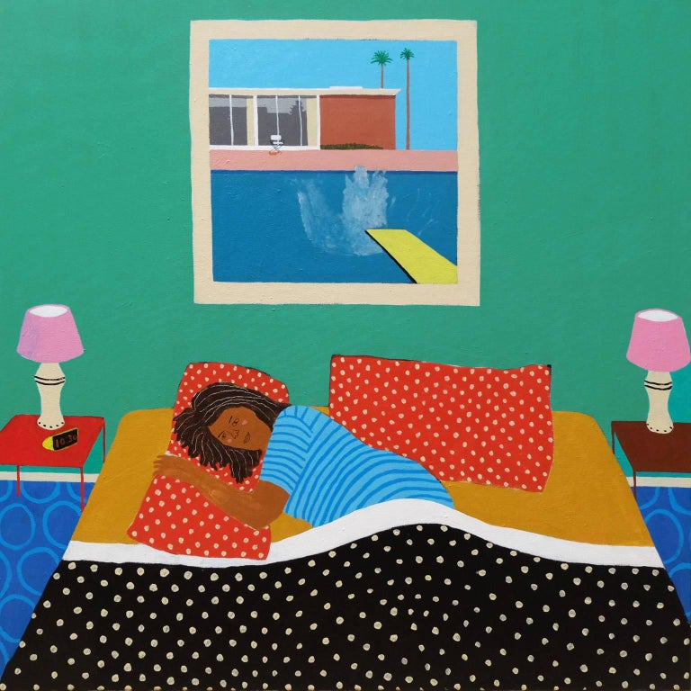 'The Great Escape' Portrait Painting by Alan Fears Featuring Hockney
