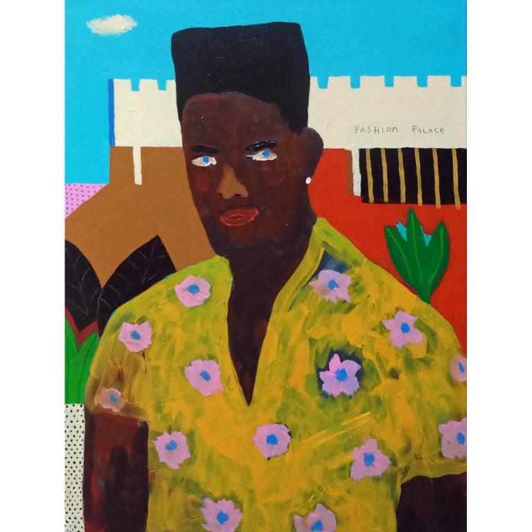 'My New Shirt' Portrait Painting by Alan Fears Pop Art