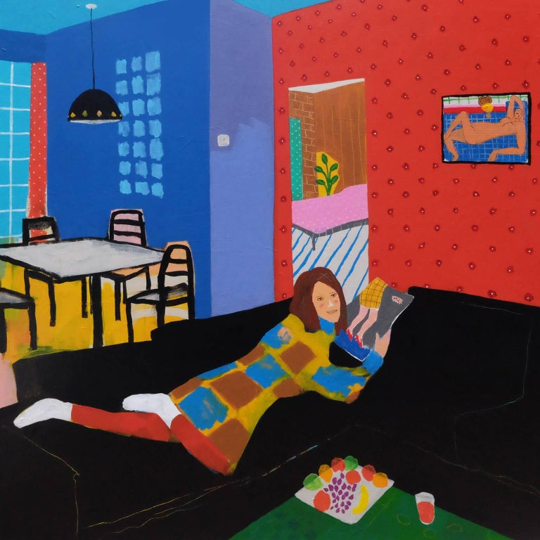 'Seduced by Reduced Shoes' Portrait Painting by Alan Fears