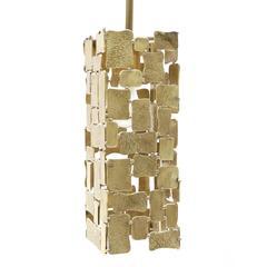 Brass Tile Pendent