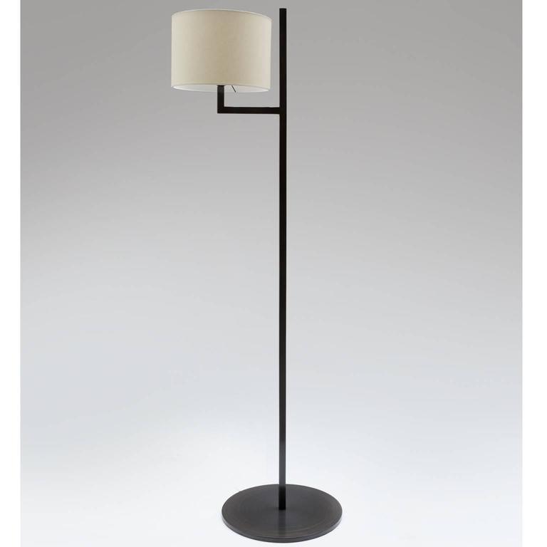 Minimalist Cuatro Blackened Steel Floor Lamp For Sale
