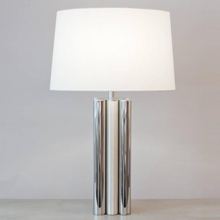 1970s brushed and polished aluminium table lamp for sale at 1stdibs brushed and polished aluminium table lamp shade included by trans aloadofball Images