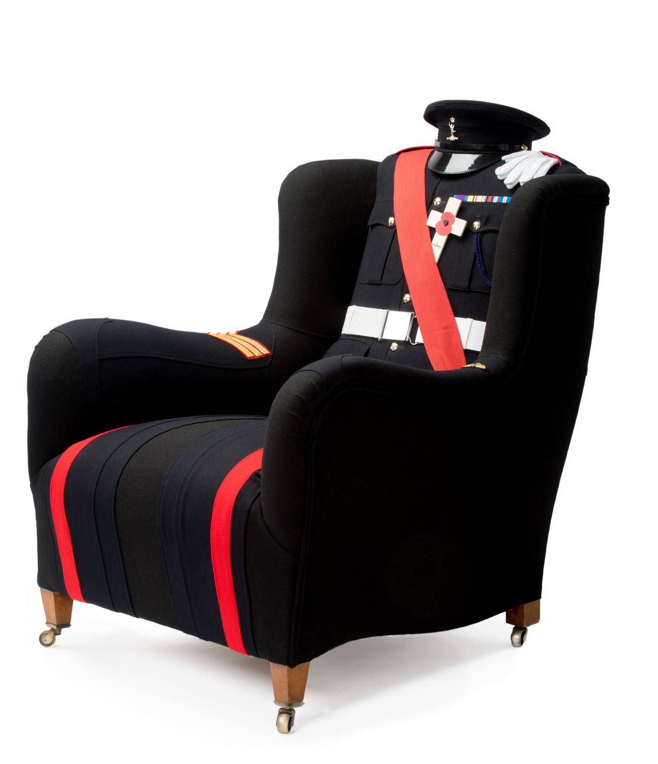 The Royal Signal Corps Uniform Wing Chair For Sale At 1stdibs
