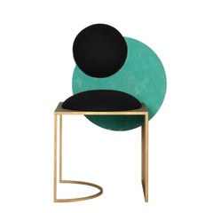Celeste Chair in Black Fabric Verdigris Copper and Steel by Lara Bohinc In Stock