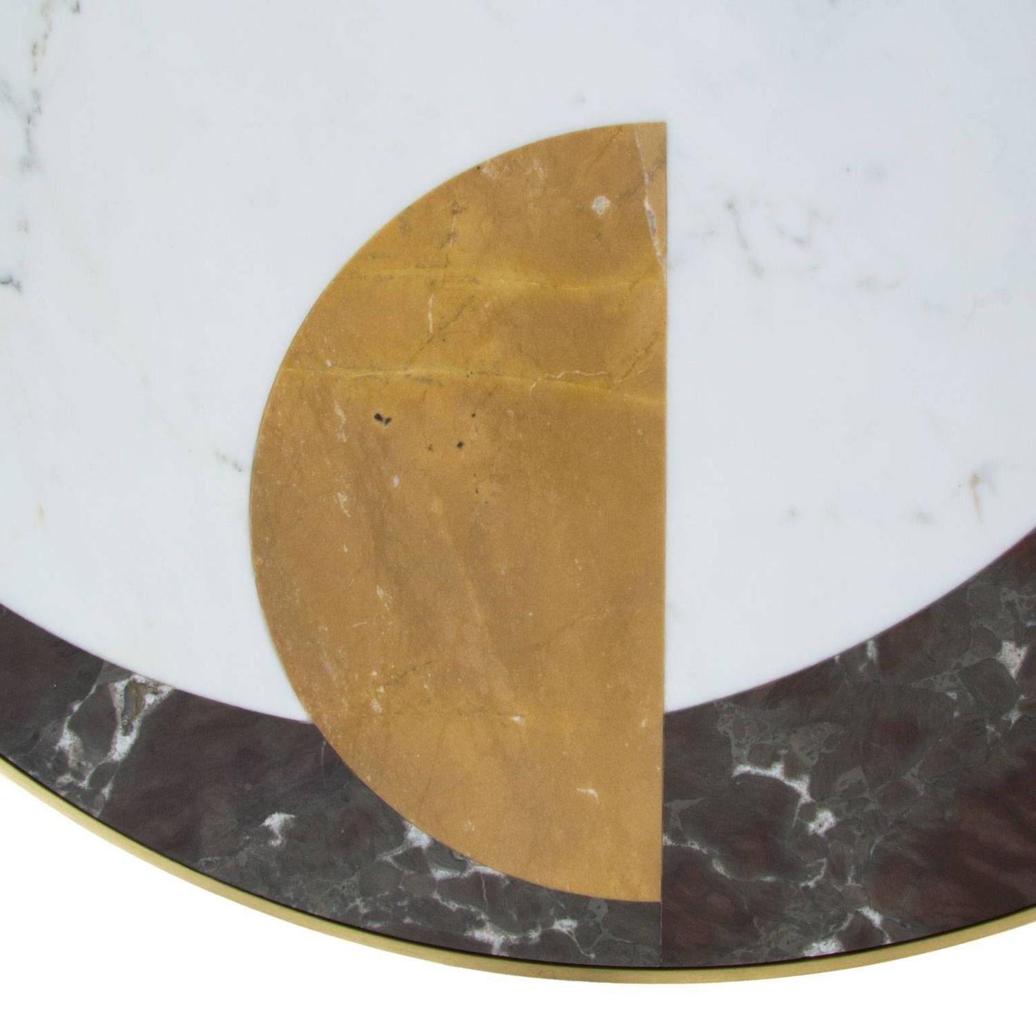Half Moon Marble And Brass Dining Table For Sale At 1stdibs